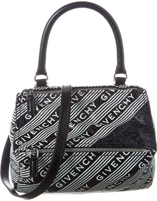 Givenchy Pandora Logo Small Leather Shoulder Bag