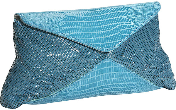 Whiting and Davis Lizzy V Flap Clutch