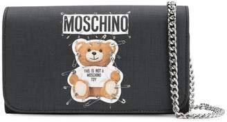 Moschino logo Teddy clutch