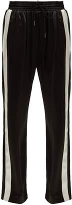 Burberry Side-stripe silk-satin track pants