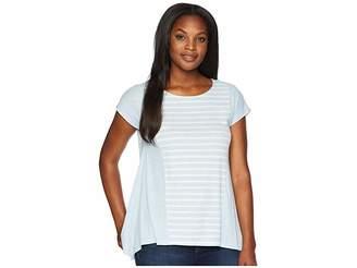 Jones New York Scoop Neck Seamed Drape Side Pullover Women's Clothing
