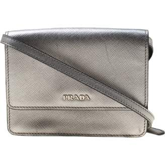 Prada saffiano Silver Leather Handbags