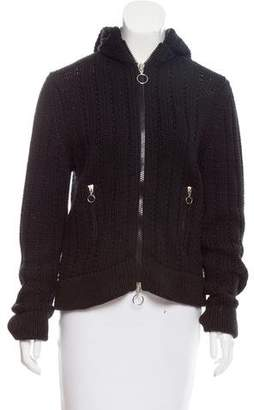 Marc by Marc Jacobs Hooded Long Sleeve Sweater