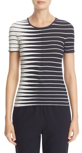 Women's Armani Collezioni Alternating Stripe Knit Top