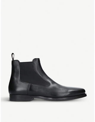 Santoni Simon leather Chelsea boot