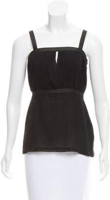 Just Cavalli Sleeveless Pleated Top