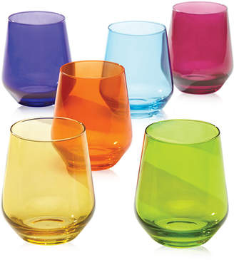 Lenox Tuscany Color Stemware Collection, Set of 6 Stemless Wine Glasses