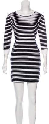 Theory Stripe Print Mini Dress
