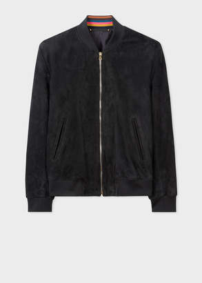 Paul Smith Men's Black Suede Bomber Jacket