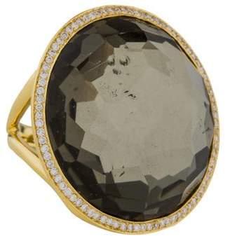 Ippolita 18K Diamond & Quartz Doublet Lollipop Ring