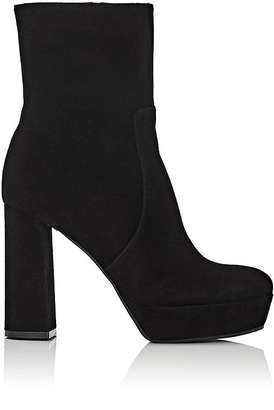 Barneys New York Women's Block-Heel Platform Ankle Boots $425 thestylecure.com