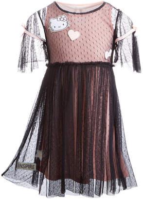 Hello Kitty Little Girls 2-Pc. Swiss Dot Patch Dress