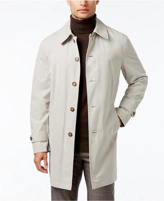 Tommy Hilfiger Men's Finn Solid Raincoat $350 thestylecure.com