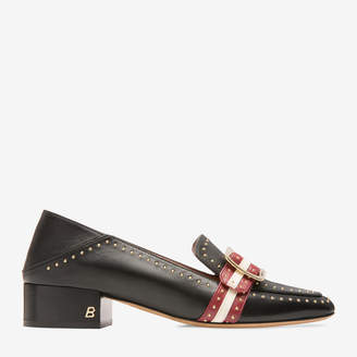 Bally Janelle Black, Women's calf leather pump with 30mm heel in black