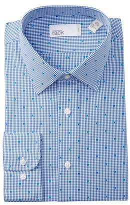Nordstrom Rack Grid Print Trim Fit Dress Shirt