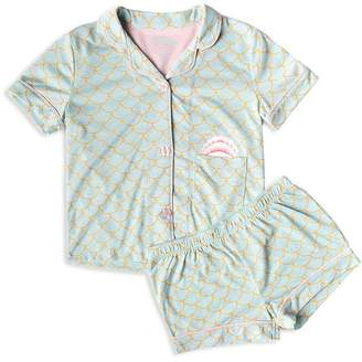 PJ Salvage Girls' Scales Top & Shorts Pajama Set - Big Kid