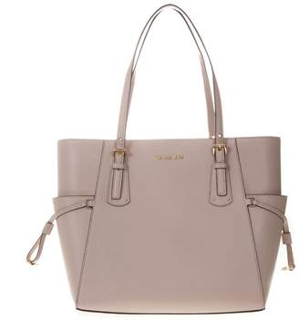 370cf2b26439 MICHAEL Michael Kors Voyager Tote Bag In Soft Pink Leather