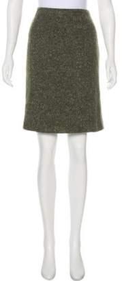 Prada Knee-Length A-Line Skirt Olive Knee-Length A-Line Skirt