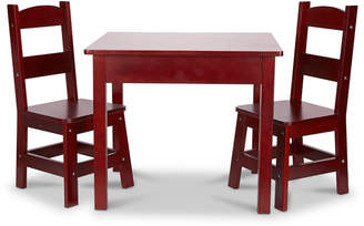 Melissa & Doug Kids' Solid Wood Table & Two Chairs