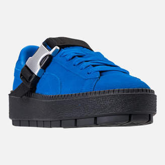 Puma Women's Suede Platform Trace Buckle Casual Shoes