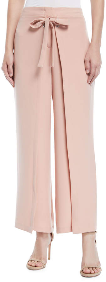 Yigal Azrouel Tie-Front Wide-Leg Pants