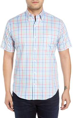 Peter Millar Crown Classic Fit Plaid Cotton Sport Shirt