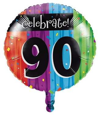 Creative Converting Milestone Celebrations 90th Birthday Mylar Balloon