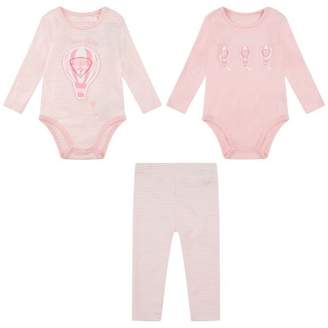 GUESS Girls Pink Bodysuits & Leggings Set (3 Piece)