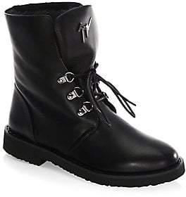 Giuseppe Zanotti Women's Leather Combat Boots