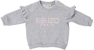 Kenzo Ruffled Logo Printed Sweatshirt