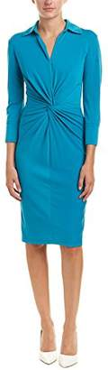 Taylor Dresses Women's 3/4 Sleeve Solid Stretch Knit Knot Front Detail