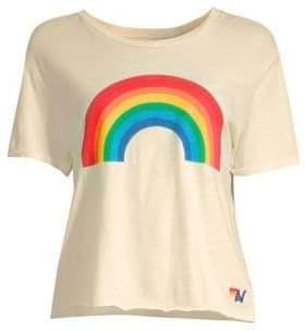 Aviator Nation Rainbow Boyfriend Tee