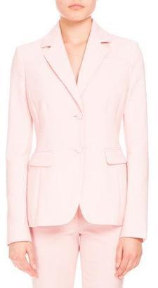 Altuzarra Fenice Two-Button Blazer, Shell Pink $1,695 thestylecure.com