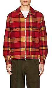 Paul Smith Men's Plaid Wool-Blend Flannel Jacket - Red