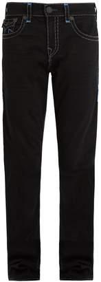 True Religion Contrast stitch mid-rise straight-leg jeans