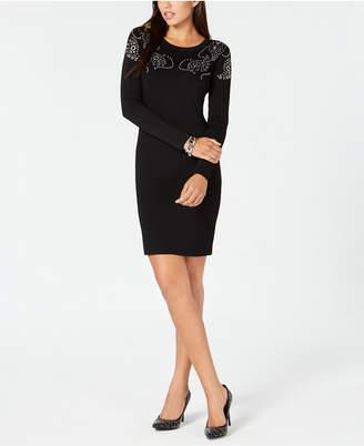 Michael Kors Embellished Ponté-Knit Dress