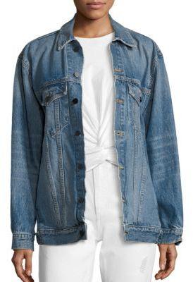 Alexander Wang Denim X Alexander Wang Daze Oversized Boyfriend Jacket $450 thestylecure.com