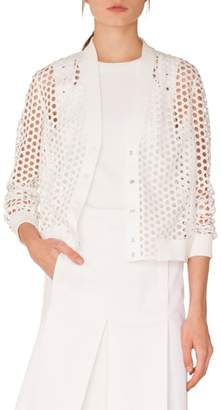 Akris Punto Lace Bomber Jacket