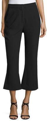 NICHOLAS Paneled Flare-Leg Cropped Pants, Black $395 thestylecure.com