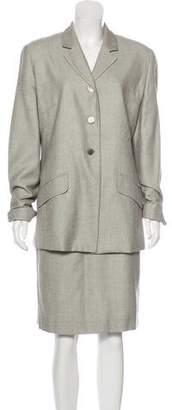 Burberry Checkered Knee-Length Skirt Suit