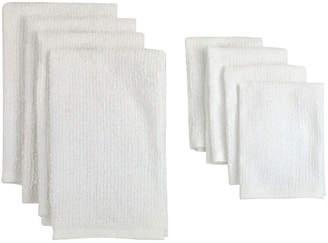 Asstd National Brand Set of 8 Bar Terry Cloth Kitchen Towels