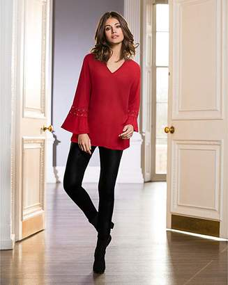 Together Trim Cuff Blouse