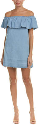 7 For All Mankind Seven 7 Ruffle Shift Dress