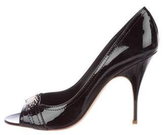 Givenchy Patent Leather Peep-Toe Pumps