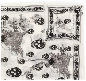Alexander McQueen Eve and Skull print scarf