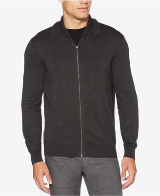 Perry Ellis Men Zip-Front Textured Sweater