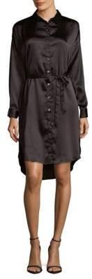 MinkPink Long-Sleeve Hi-Lo Shirtdress