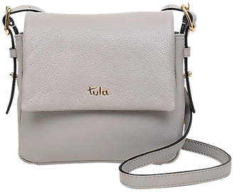 At John Lewis And Partners Tula Soft Originals Leather Small Flapover Cross Body Bag