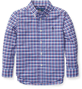 Ralph Lauren Childrenswear Long-Sleeve Plaid Button-Down Shirt, Size 5-7