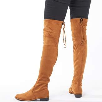 Feud Womens Over The Knee Boots Tan